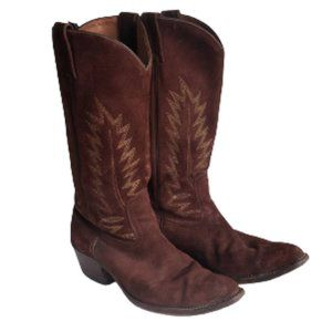 Boulet brown suede cowboy boots Men 8 Women 10